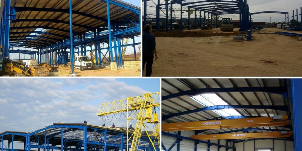 Production Hall 2500 sm. Steel Stucture used appr. 300 tons.
