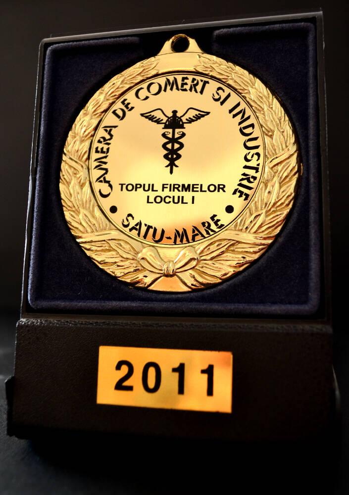 6. 2011-CCI-Topul Firmelor Satu Mare - Locul I. Steiger