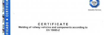 2019 – New Certification: EN 15085-2 CL1
